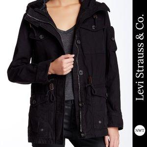 NWT Levi's Military Jacket with Hood